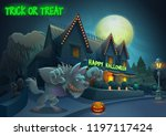 happy halloween background  ... | Shutterstock .eps vector #1197117424