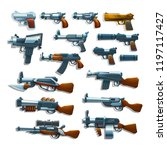 set of cartoon firearm  guns ...