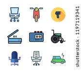 mobility icon set. vector set... | Shutterstock .eps vector #1197119341