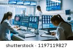 team of professional scientists ... | Shutterstock . vector #1197119827