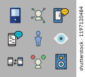 businessman icon set. vector... | Shutterstock .eps vector #1197120484