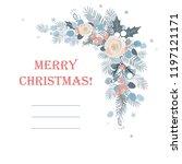 corner border eucalyptus and... | Shutterstock .eps vector #1197121171