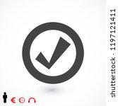 confirm icons  stock vector...   Shutterstock .eps vector #1197121411