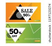 web banner design template.... | Shutterstock .eps vector #1197123274