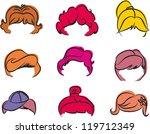 hair styles | Shutterstock .eps vector #119712349