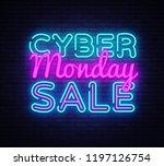 cyber monday   discount sale... | Shutterstock . vector #1197126754