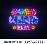 keno lottery neon sign . lotto... | Shutterstock . vector #1197127681