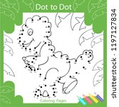 dot to dots drawing worksheets. ... | Shutterstock .eps vector #1197127834