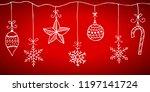 doodle christmas design... | Shutterstock .eps vector #1197141724