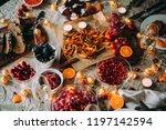 dinner table  celebrating... | Shutterstock . vector #1197142594