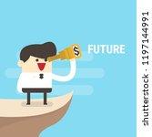 businessman looking future.... | Shutterstock .eps vector #1197144991