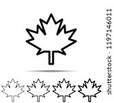 Maple Leaf Icon In Different...