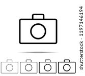 camera icon in different shapes ...