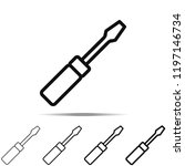 screwdriver icon in different...