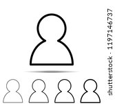 user icon in different shapes ...