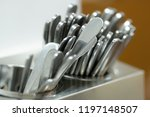 set of spoons close up | Shutterstock . vector #1197148507
