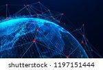 global network concept. world...   Shutterstock . vector #1197151444