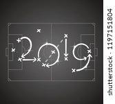 soccer strategy for goal 2019... | Shutterstock .eps vector #1197151804
