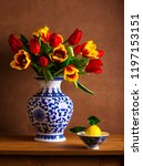 Still Life With Colorful Tulip...