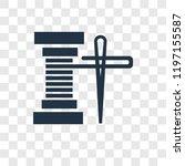spool of thread vector icon... | Shutterstock .eps vector #1197155587
