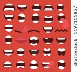 set of mouths icons | Shutterstock .eps vector #1197155857