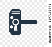handle vector icon isolated on... | Shutterstock .eps vector #1197159991