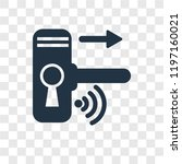 handle vector icon isolated on... | Shutterstock .eps vector #1197160021
