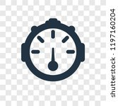 dial vector icon isolated on... | Shutterstock .eps vector #1197160204