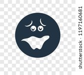 shocked vector icon isolated on ... | Shutterstock .eps vector #1197160681