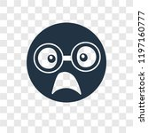 nerd vector icon isolated on... | Shutterstock .eps vector #1197160777