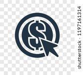 pay per click vector icon... | Shutterstock .eps vector #1197161314