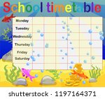 school timetable with marine... | Shutterstock .eps vector #1197164371