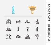 travel icons set  florida ...