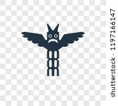 totem vector icon isolated on... | Shutterstock .eps vector #1197166147