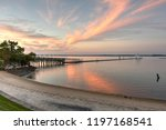 colorful sunset skies on the... | Shutterstock . vector #1197168541