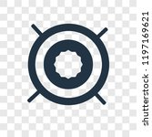 aim vector icon isolated on... | Shutterstock .eps vector #1197169621
