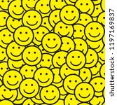 seamless pattern with smile...   Shutterstock .eps vector #1197169837