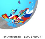 europe with embedded national... | Shutterstock . vector #1197170974
