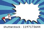 megaphone and speech bubble on... | Shutterstock .eps vector #1197173644