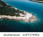 rocky coastline of adriatic sea ... | Shutterstock . vector #1197174901