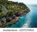 rocky coastline of adriatic sea ... | Shutterstock . vector #1197174931