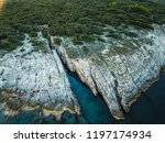 rocky coastline of adriatic sea ... | Shutterstock . vector #1197174934