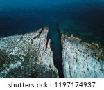 rocky coastline of adriatic sea ... | Shutterstock . vector #1197174937