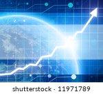 arrow graph going up | Shutterstock . vector #11971789