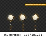christmas lights  isolated... | Shutterstock .eps vector #1197181231