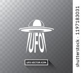 ufo flying saucer vector icon...   Shutterstock .eps vector #1197183031