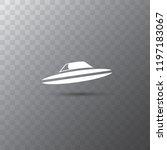 ufo flying saucer vector icon...   Shutterstock .eps vector #1197183067