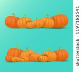 autumn vector orange pumpkins... | Shutterstock .eps vector #1197183541