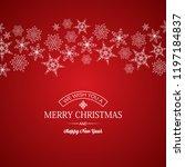 festive merry christmas poster... | Shutterstock .eps vector #1197184837