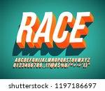 race 3d italic condense retro... | Shutterstock .eps vector #1197186697